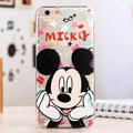 Cute Cover Disney Mickey Mouse Silicone Case Cartoon for iPhone 7S Plus - Transparent