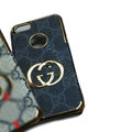 GUCCI Luxury leather Cases Hard Back Covers Skin for iPhone 7S Plus - Grey