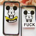 TPU Cover Disney Mickey Mouse Silicone Case Banana for iPhone 7S Plus - Transparent