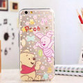 TPU Cover Disney Winnie the Pooh Silicone Case Piglet for iPhone 7S Plus - Transparent