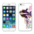 Ultrathin Coach Covers Hard Back Cases Protective Shell Skin for iPhone 7S Plus Girls - White