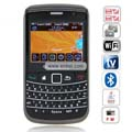 9700TV Quad Band Dual Cards Dual Cameras WiFi Color TV Bluetooth Java China Phone-Black