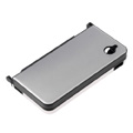 Aluminum Metal Hard Case Cover For Nintendo NDSi XL/LL-Silver grey