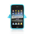 Angel Pattern Silicone Case for Apple iPhone 4th / 4G - Blue