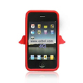 Angel Pattern Silicone Case for Apple iPhone 4th / 4G - Red