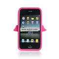 Angel Pattern Silicone Case for Apple iPhone 4th / 4G - Rose