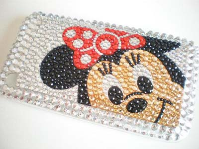 Bling Minne Mouse Crystal Diamond Cover Case for iPhone 3G 3GS