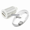 Bullet Car Charger with USB Cable for Apple iPhone 4 / 3G / 3GS / iPad - Silver