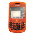 Compatible Fullset Housing for Blackberry 8520 Mobile Phone-Shiny Orange