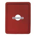 Compatible Silicone Case with Hole for Apple iPad-Red