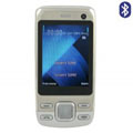 DK E888 Dual SIM Card Phone with TV & Bluetooth Function - Silver