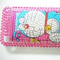 Diamond Doraemon Crystal Cover Case for Apple iPhone 3G 3GS in pink