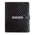 Diamond Lines Leather Case Folio for Apple iPad-Black