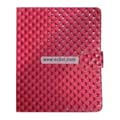 Diamond Lines Leather Case Folio for Apple iPad-Peach