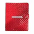 Diamond Lines Leather Case Folio for Apple iPad-Red