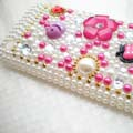 Fancy Pearl Bling Diamond Cover Case for Apple iPhone 3G 3GS