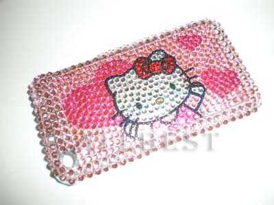 Fashion Rhinestone Diamond Cover Case for iPhone 3G 3GS-Hello Kitty