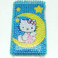 Hello Kitty Bling Crystal Cover Case for iPod Touch 2G-Blue