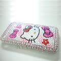 Hello Kitty Crystal Diamond Case Cover for iPhone 3G-Pink