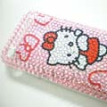 Hello Kitty Crystal Diamond Case Cover for iPhone 3G-Red