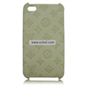 High Quality LV Pattern Protective Case for iPhone 4th / 4G - Beige