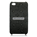 High Quality LV Pattern Protective Case for iPhone 4th / 4G-Black