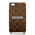 High Quality LV Pattern Protective Case for iPhone 4th / 4G-Brown