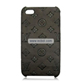 High Quality LV Pattern Protective Case for iPhone 4th / 4G-Chocolate
