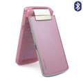 Kingk 608 180 Degree Flip Dual Card &TV Phone with Bluetooth - Pink