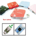 MS/SD/MMC/T-Flash/Micro SD/M2 USB 2.0 4 Slot Card Reader HY-CR-31