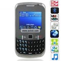 Mini 8520 Quad Band Dual Cards Dual Cameras Bluetooth Java Optical Navi Key QWERTY China Phone - Black