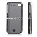 Nice Feel Oiled Plastic Protective Case for Apple iPhone 4th / 4G - Black