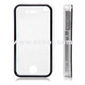 Nice Feel Oiled Plastic Protective Case for Apple iPhone 4th / 4G - White
