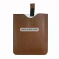 PU Crosspattern Soft Leather Sleeve Case with Cord for Apple iPad-Brown