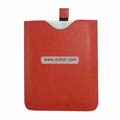 PU Crosspattern Soft Leather Sleeve Case with Cord for Apple iPad-Red