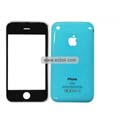 PU Front and Back Cover with Opening Tools For Apple iPhone 3GS-Blue
