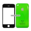 PU Front and Back Cover with Opening Tools For Apple iPhone 3GS-Green