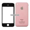 PU Front and Back Cover with Opening Tools For Apple iPhone 3GS-Pink