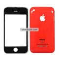 PU Front and Back Cover with Opening Tools For Apple iPhone 3GS-Red