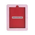 PU Leather Apple iPad Case Flip Open Vertical-Pink