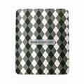 Protection Back Case Skin Cover for Apple iPad-Grey and Black Grid