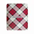 Protection Back Case Skin Cover for Apple iPad-Red Grid