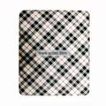 Protection Back Case Skin Cover for Apple iPad-White and Black Grid