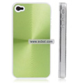 Shiny Coil Pattern Hardware Material Protective Case for Apple iPhone 4th / 4G - Green