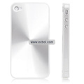 Shiny Coil Pattern Hardware Material Protective Case for Apple iPhone 4th / 4G - Silver