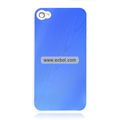 Shiny Tree Texture Hardware Material Protective Case for Apple iPhone 4th / 4G - Blue