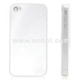 Shiny Tree Texture Hardware Material Protective Case for Apple iPhone 4th / 4G - Silver