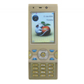 W995 Dual SIM Card Phone with TV & Bluetooth Function - Golden