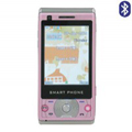 W600 Dual SIM Card Phone with TV & Bluetooth - Pink