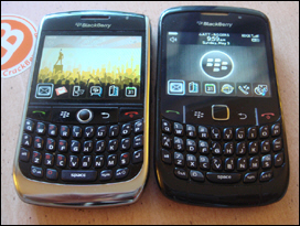 BlackBerry Curve 8900 and 8520 side by side
